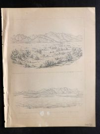 Baird 1857 Antique Print. Janos Trail. New Mexico Arizona, USA